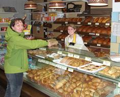 Laden der Bäckerei